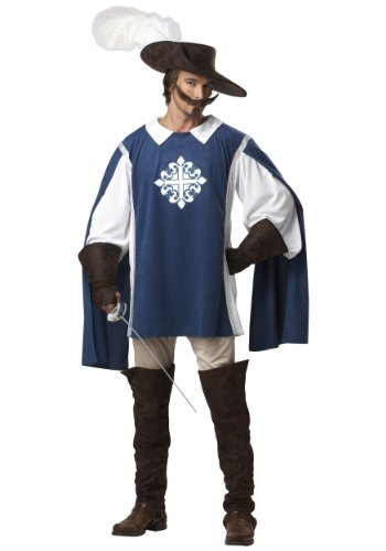 California Costumes Musketeer Set, Blue/White, X-Large