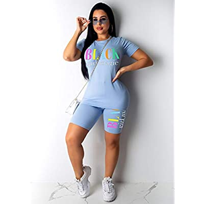 Womens Lightweight 2 Piece Sports Outfit Tracksuit Shirt Shorts Jogger Sportswear Set Activewear at Women's Clothing store