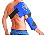 Adult Shoulder/Elbow Cold Therapy Ice Wrap - Long Lasting Pain Relief from Spasms & Swelling. Maintains Consistent Temperature. Built to Give Comfortable Fit