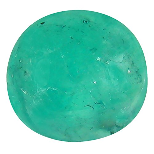 3.76 ct PGTL Certified Oval Cabochon Cut (10 x 10 mm) Colombian Emerald Loose Natural Gemstone