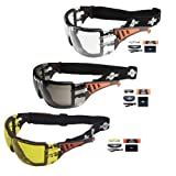 ToolFreak Rip Out Work & Sports Safety Glasses Clear, Smoke & Yellow Tinted Mega Bundle Offer, Foam Padded, Impact and UV Protection