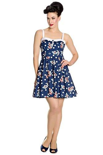 hell bunny blue sailor mini dress - 3