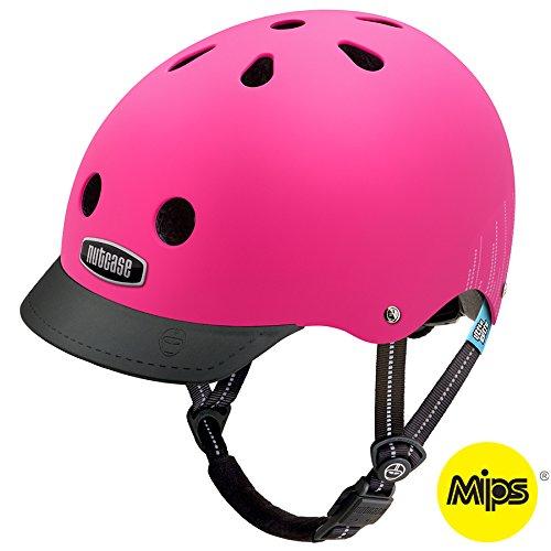 Rosa Casco Mixta Infantil Nutcase Little Nutty MIPS-Pink Bubbles Matte