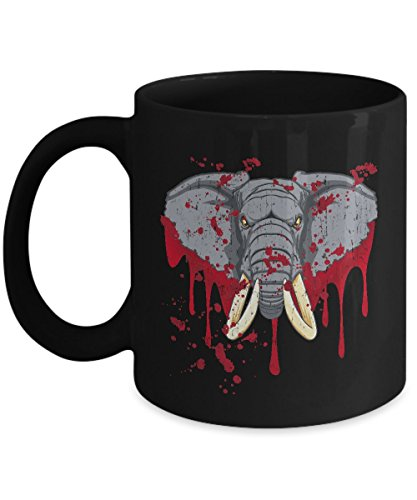 Shirt White Elephant Halloween For Halloween Coffee Mug 11oz Black
