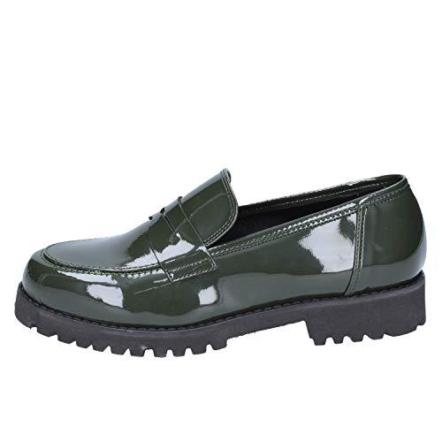 Olga RUBINI Loafers-Shoes Womens Green 5.5 US ()