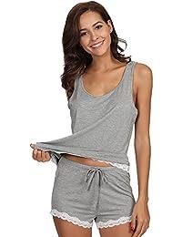 Women's Bamboo Pajama Tank and Shorts Set