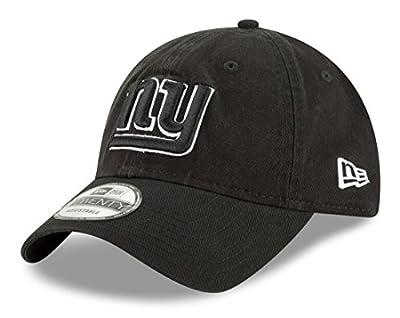 "New York Giants New Era NFL 9Twenty ""Core Classic Twill"" Adjustable Black Hat by New Era"