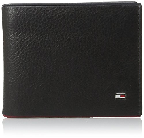 Tommy Hilfiger Men's Raymond Pass Case Wallet with Removable Card Case, Black, One Size (Tommy Hilfiger Pebble)