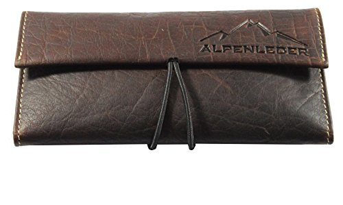 ALPENLEDER Tobacco Pouch HAVANNA - Genuine Buffalo Leather Pipe Bag, Brown by ALPENLEDER