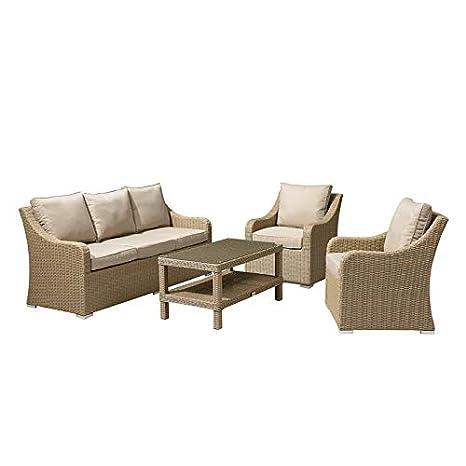 Nova Harper - Juego de sofá y sillones de jardín de 3 plazas ...
