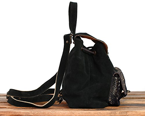Marius Backpack Vintage Nubuck Paul Le Baroudeur Gold Black Leather Cow CxwWxfHgAq