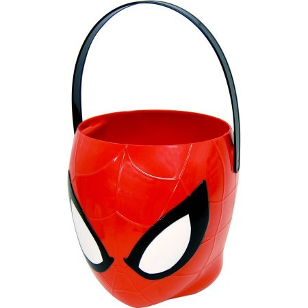 (Spiderman Halloween Candy Pail - 3D Figural Plastic)