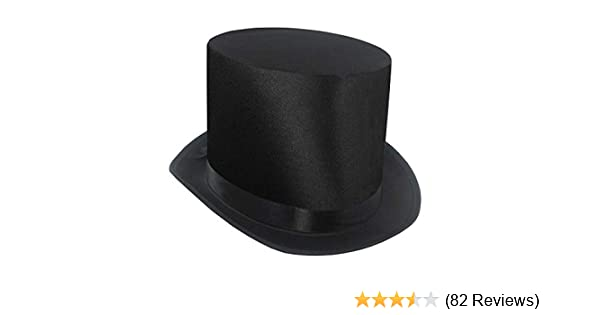 hat measures 4 3//4 inches high and is covered with silk Silk Top Hat