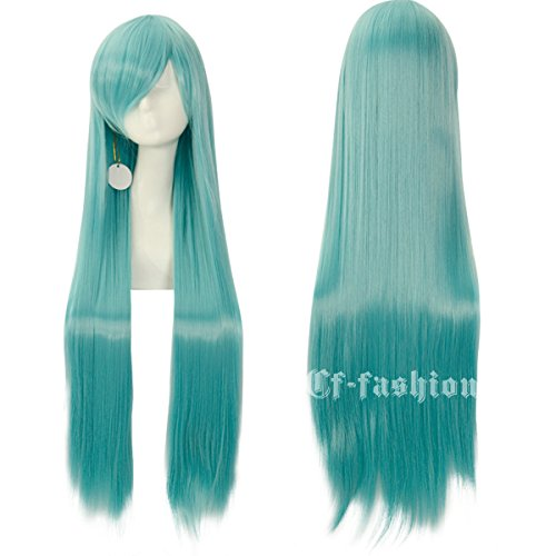 cfalaicos-100cm-40-long-straight-multifunctional-heat-resistant-rose-net-cosplay-wigs-with-free-wig-