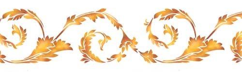 Acanthus Leaf Swirl Wall Stencil SKU #3606 by Designer Stencils - Acanthus Leaf