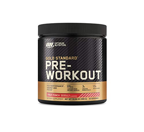 OPTIMUM NUTRITION Gold Standard Pre-Workout with Creatine, Beta-Alanine, and Caffeine for Energy, Flavor: Fruit Punch…