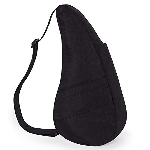 AmeriBag Small Distressed Nylon Healthy Back Bag, Black