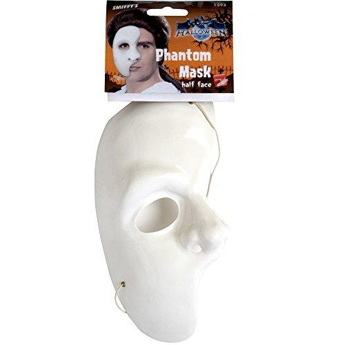 White Phantom of the Opera Half Mask ()