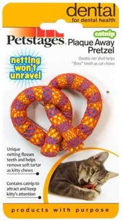 Petstages Catnip Plaque Away Pretzel 2