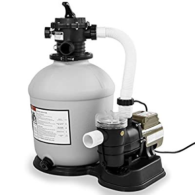 """XtremepowerUS Swimming Pool 16"""" Sand Filter with 3100GPH 3/4 hp Pool Pump"""