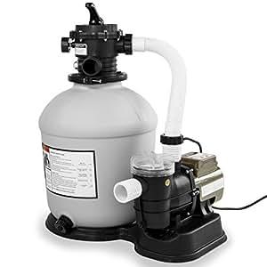 """XtremepowerUS piscina 16""""filtro de arena con 3100GPH 3/4HP bomba de piscina"""