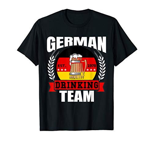 (German Drinking Team Germany Flag Funny Oktoberfest Gift T-Shirt )