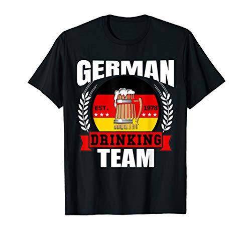 German Drinking Team Germany Flag Funny Oktoberfest Gift T-Shirt