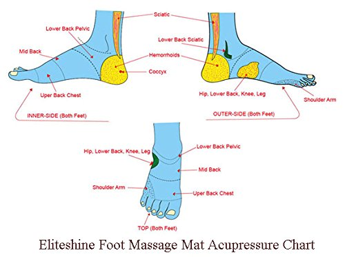 EliteShine Rock Reflexology Foot Massage Yoga Mat Health Care Christmas Birthday Gift by EliteShine (Image #3)