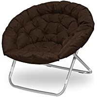 Urban Shop Oversized Saucer Chair, Brown