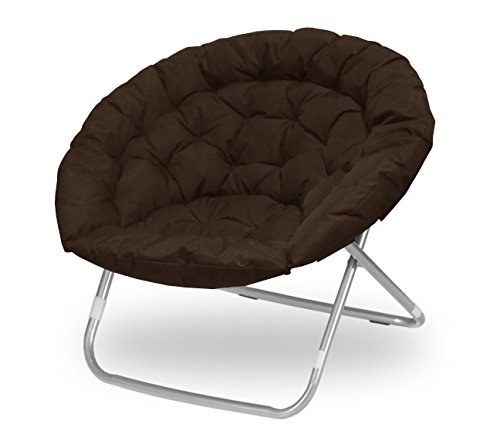 Urban Shop Oversized Saucer Chair, Brown by Urban Shop