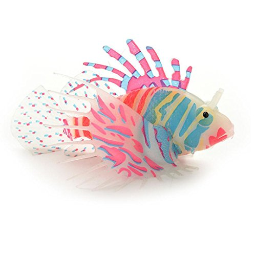 Vacally Artificial Fish Aquarium Decorative Lamp Virtual Ocean in Motion Aquarium Artificial Fish Silicone Lionfish Floating Decorations - Patrick House Rock Star