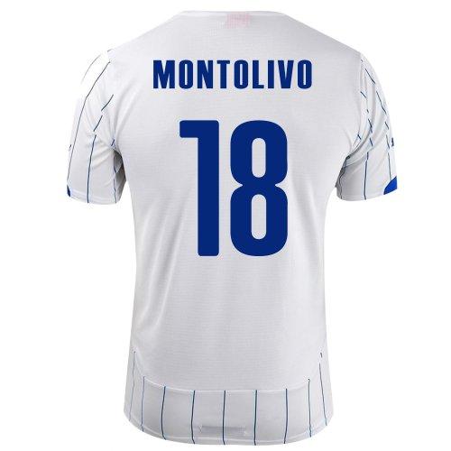 内なる狂う看板PUMA MONTOLIVO #18 ITALY AWAY JERSEY WORLD CUP 2014/サッカーユニフォーム イタリア代表 レプリカ?アウェイ用 ワールドカップ2014 背番号18 モントリーヴァ