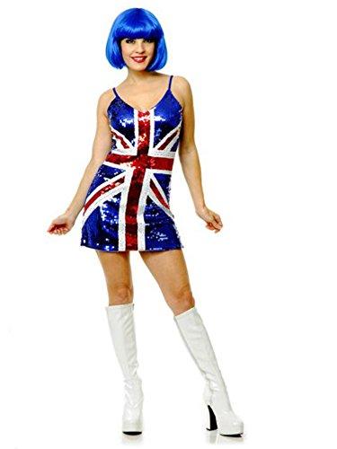 [British Flag Sequin Dress Sexy Costume] (Jack White Halloween Costume)