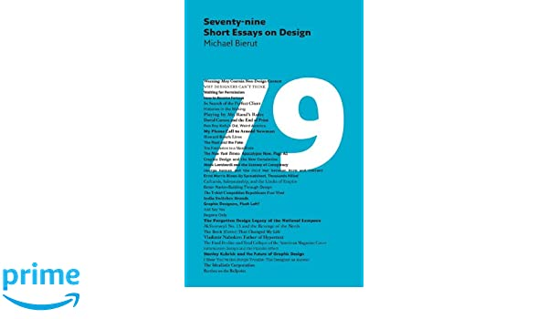 seventy nine short essays on design michael bierut  seventy nine short essays on design michael bierut 9781616890612 books ca