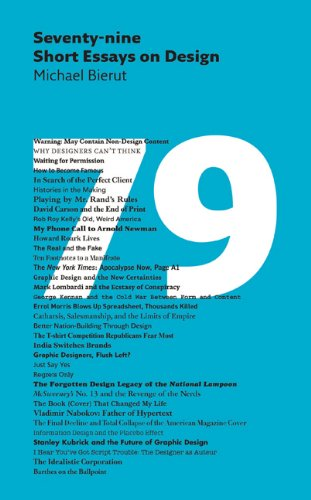 seventy nine short essays on design michael bierut  seventy nine short essays on design michael bierut 9781616890612 com books