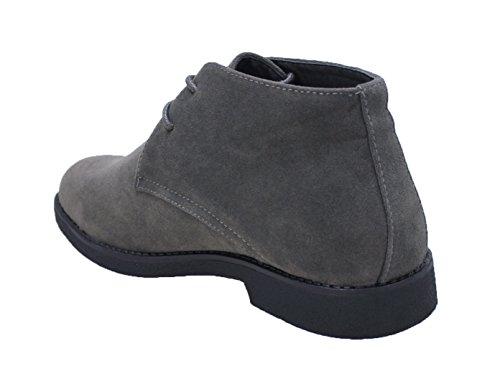 Grigio Uomo Ecopelle Casual Collezioni Man's Ak Invernali Polacchine Shoes Scamosciate Scarpe qRxSXP