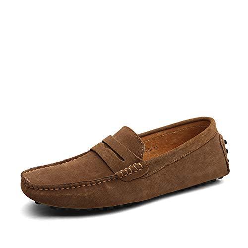 DUORO Herren Klassische Weiche Mokassin Echtes Leder Schuhe Loafers Wohnungen Fahren Halbschuhe