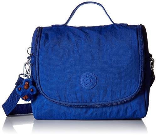 Kipling Kichirou Insulated Lunch Bag, Removable, Adjustable Crossbody Strap, Zip Closure, blue tropics Tonal