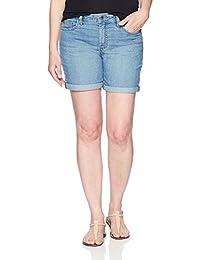 "Riders by Lee Indigo Womens Rolled Cuff Midrise Denim Short with 6"" Inseam Denim Shorts"