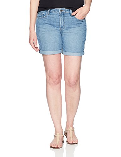 Riders by Lee Indigo Women's Rolled Cuff Midrise Denim Short with 6