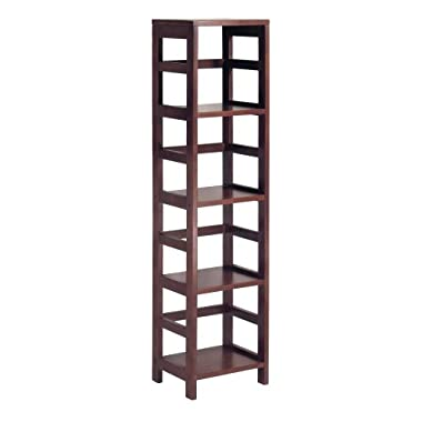 Winsome Wood 4-Shelf Narrow Shelving Unit, Espresso