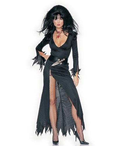 Leg Ave Women's Haunted House Mistress Costume, Black, Medium/Large (Mistress Costumes)