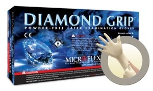 Diamond Grip Latex Gloves X-S Case by Microflex