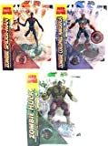 zombie hulk marvel select - Marvel Zombies ZOMBIE Colonel Captain America, Incredible Hulk, Spider-man 3 Figure Set Marvel Select