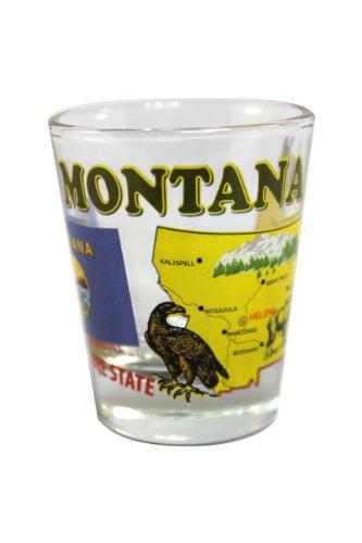 Glass Montana Shot (Souvenir Shot Glass - Montana)
