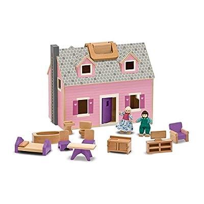 Melissa & Doug - 13701 - Maison De Poupée En Bois Pliante Et Portative