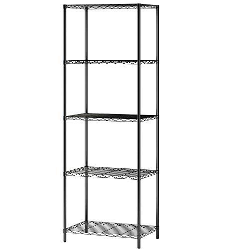 (Home-Like 5-Tier Wire Shelving Metal Shelf Storage Rack Multipurpose Shelf Display Rack Freestanding Organizer Shelf 21