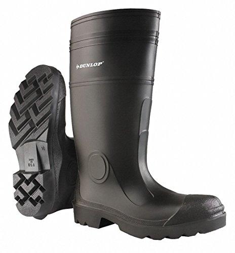 Dunlop 16h Mens Knä Stövlar, Vanligt Tå Typ, Pvc Övre Material, Svart, Storlek 11 11 Svart 874.011.133-1 Varje