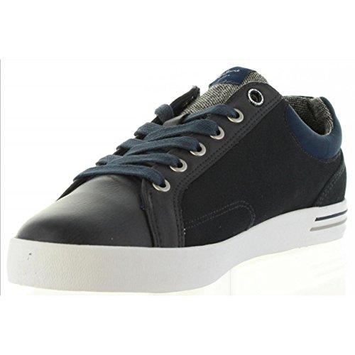 Pepe Jeans London Herren North Mix Sneaker Blau (Marine 585)