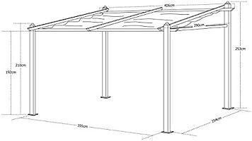 Alices Garden - Pergola de Pared, Aluminio, Marron, 3x4m, Murum: Amazon.es: Jardín